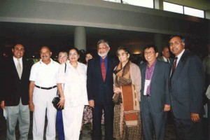 Leaders of Indian Canadians with Arun Gandhi.
