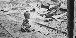 Crying Baby at Rail Station during Nanjing Massacre