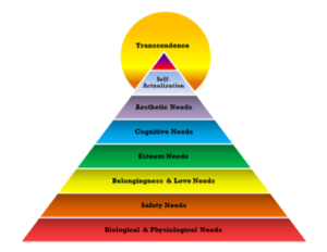 Figure 2. Maslow's revised hierarchy of human needs (Maslow's hierarchy, 2016).