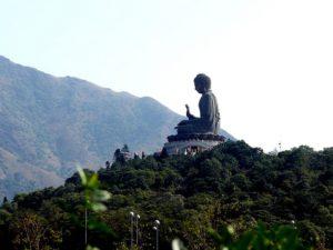 The Buddha on Lantau Island.