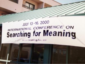 The first Meaning Conference in 2000.