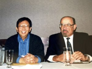 Paul with Irvin Yalom at the First Meaning Conference.