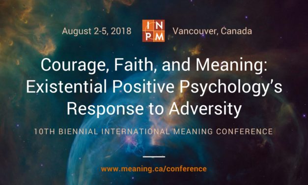 Vancouver Conference to Explore the Power of Meaning to Thrive in Difficult Times
